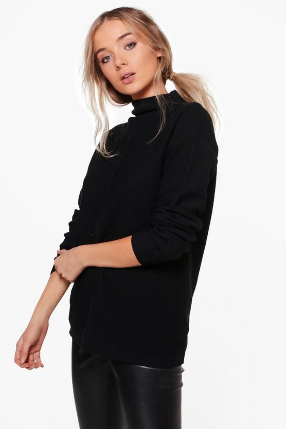 Isabelle Oversized Funnel Neck Jumper