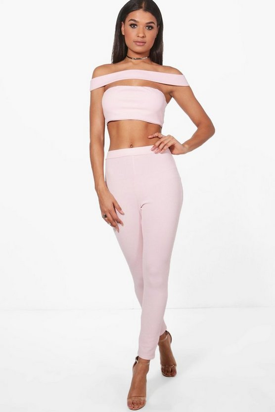 Rebecca Off Shoulder Crop & Trouser Co-Ord