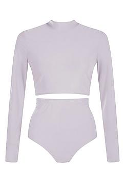 Madison Slinky Roll Neck Crop & Hotpant Co-Ord