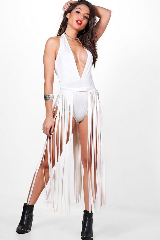 Isobel Tassel Belt & Slinky Bodysuit Co-Ord