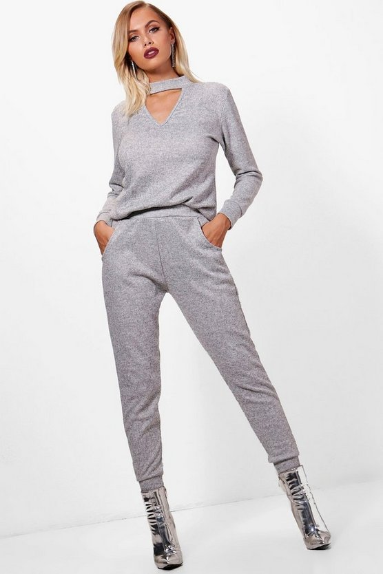 Olivia Choker Knitted Loungewear Set