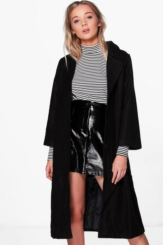 Lucy Longline Wool Look Coat