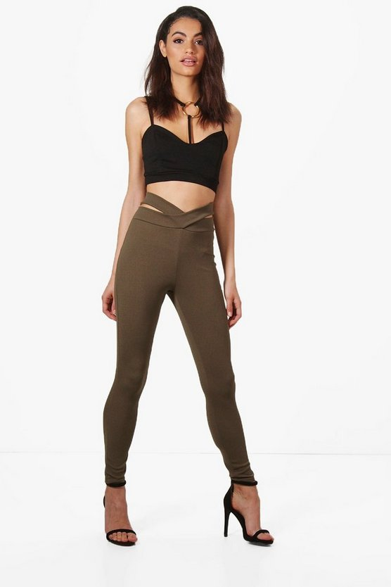 Maya Cross Front Crepe Leggings