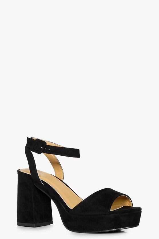 Ella 2 Part Platform Low Heel