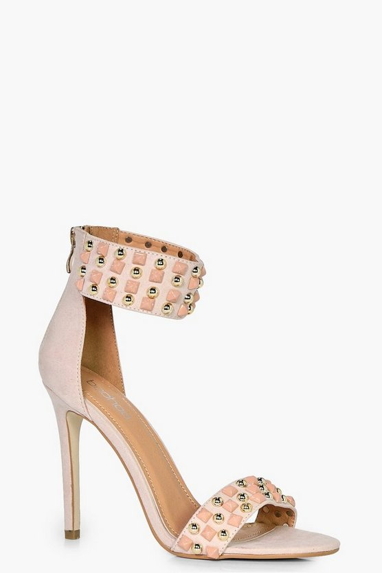 Emily 2 Part Studded Heel