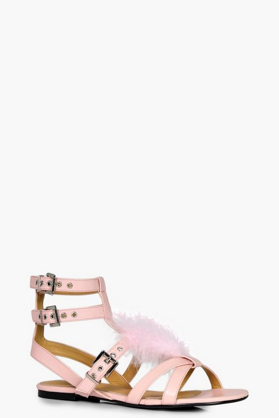 Emma Faux Fur Sandals
