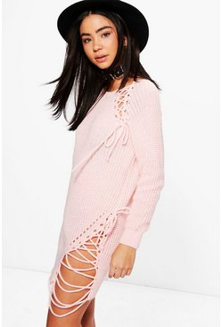 Charlotte Lace Up Side Knitted Tunic