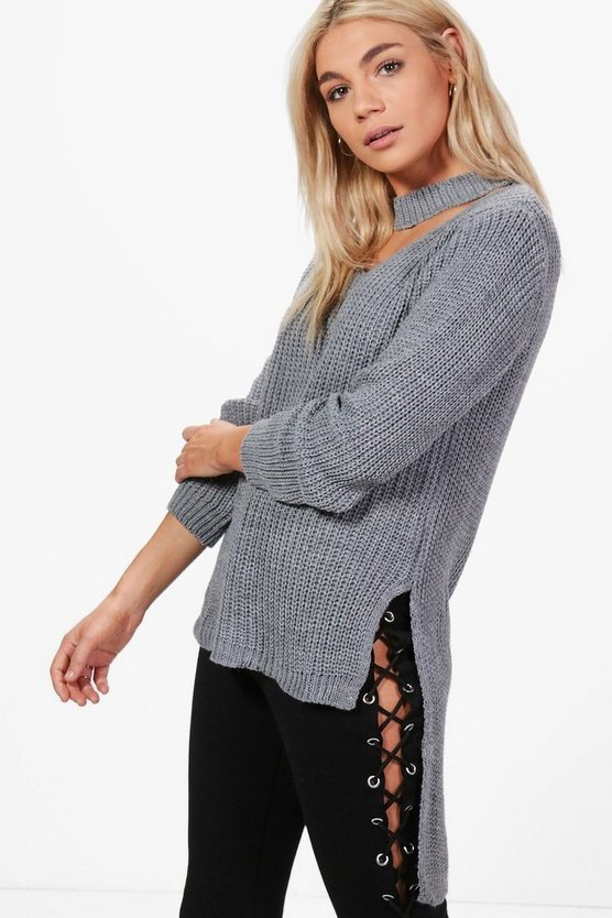 Hannah Choker Oversized Knitted Tunic