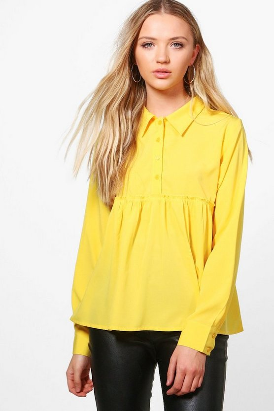 Robyn Wide Hem Button Up Shirt