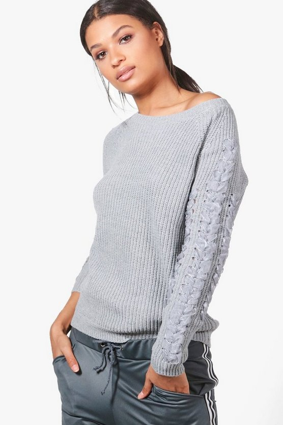 Julia Ribbon Sleeve Jumper