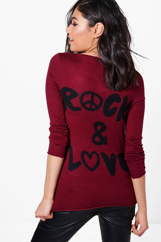 Becky Rock & Love Knitted Top