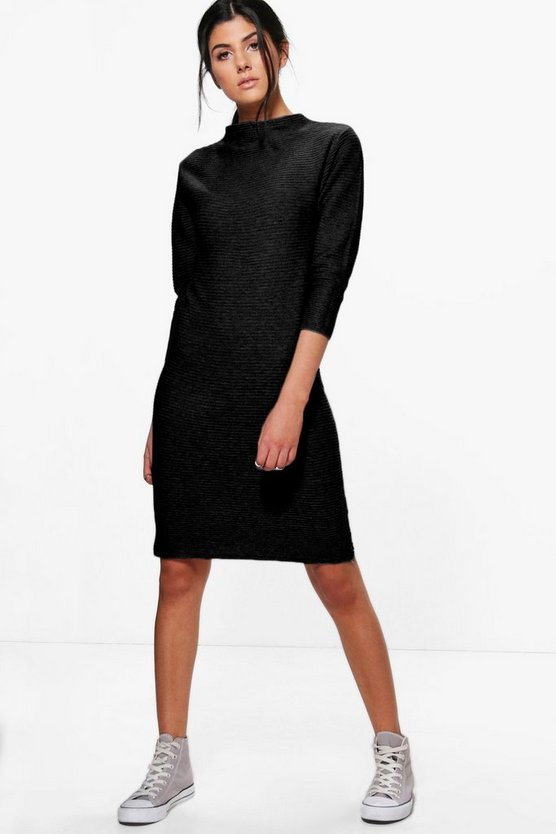 Katie Super Soft Rib Knit Midi Dress