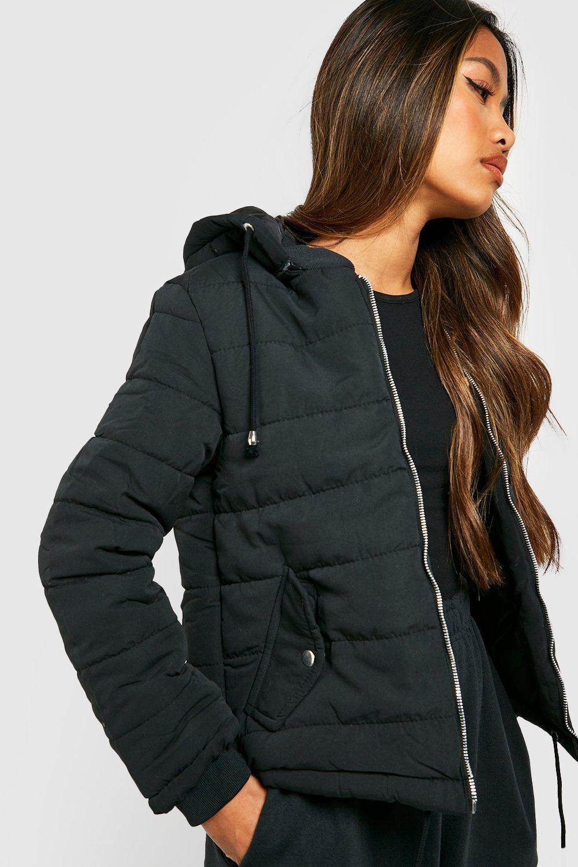Hooded Padded Jacket  black