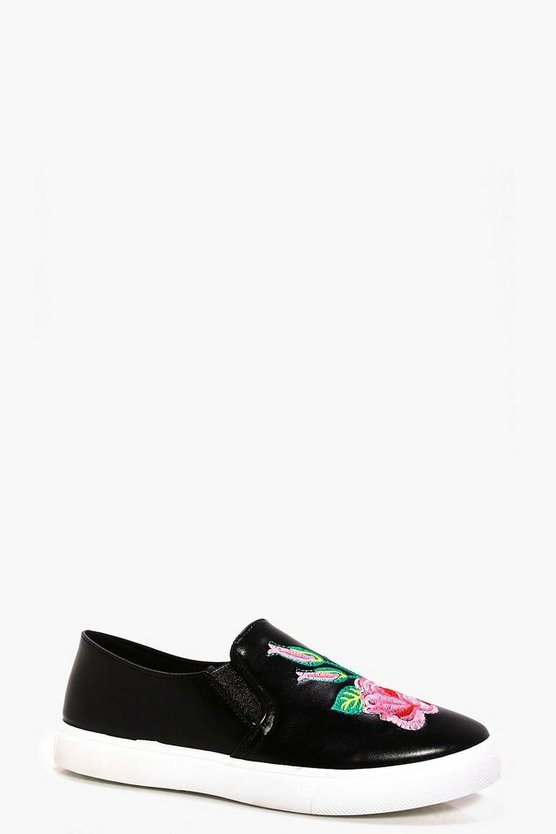 Layla Embroidered Flower Skater