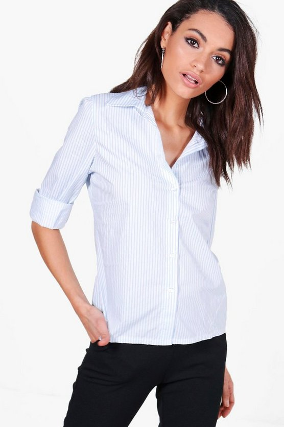 Sasha Stripe Fitted Shirt