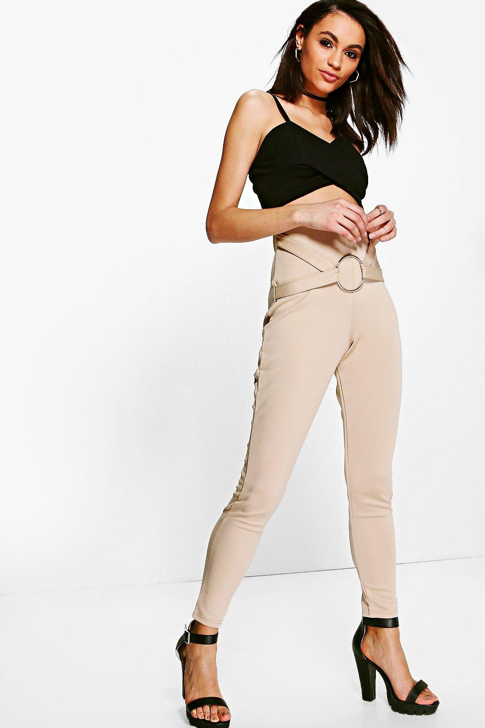 Avah O Ring Detail Scuba Leggings sand