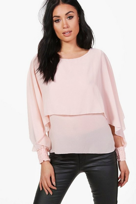 Annabelle Layered Open Sleeve Blouse