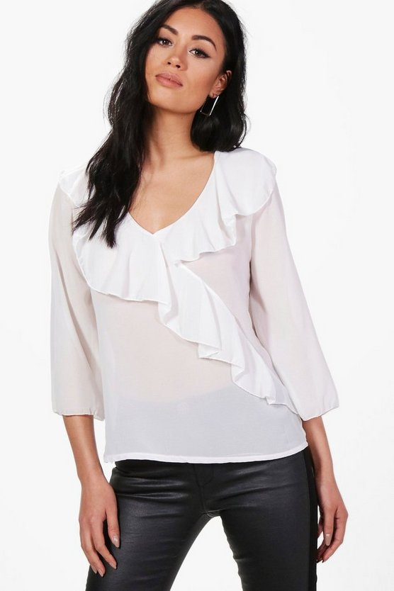 Martha Ruffle Blouse