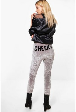 Pia Cheeky Velvet Highwaist Leggings