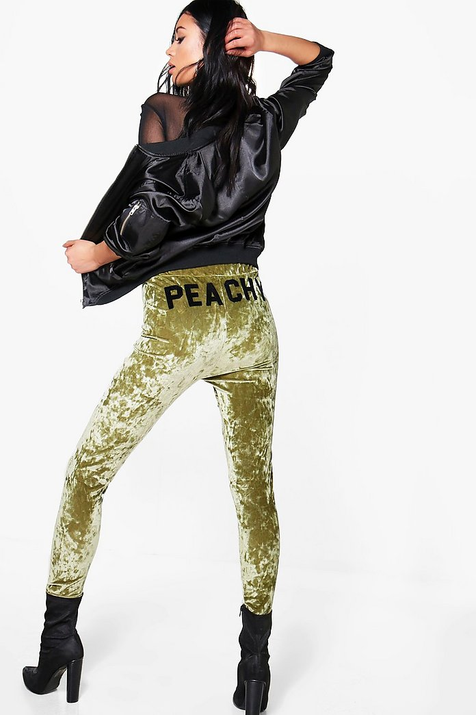 Nori Peachy Velvet Highwaist Leggings