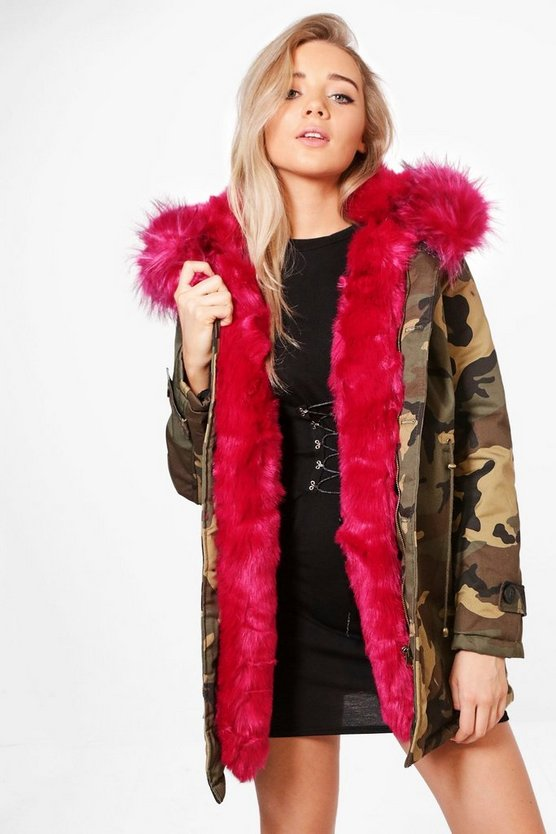 Georgina Faux Fur Lined Parka