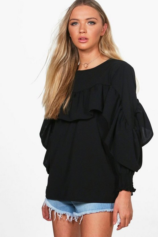 Lilly Ruffle Detail Woven Top