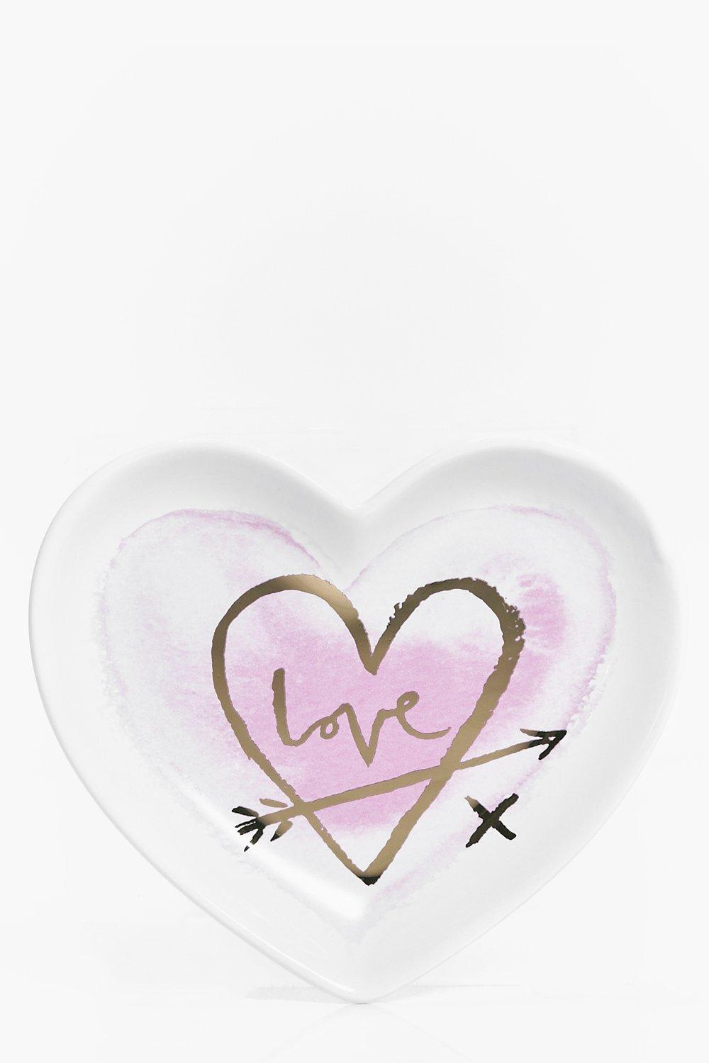 Image of Ceramic Love Trinket Dish - white