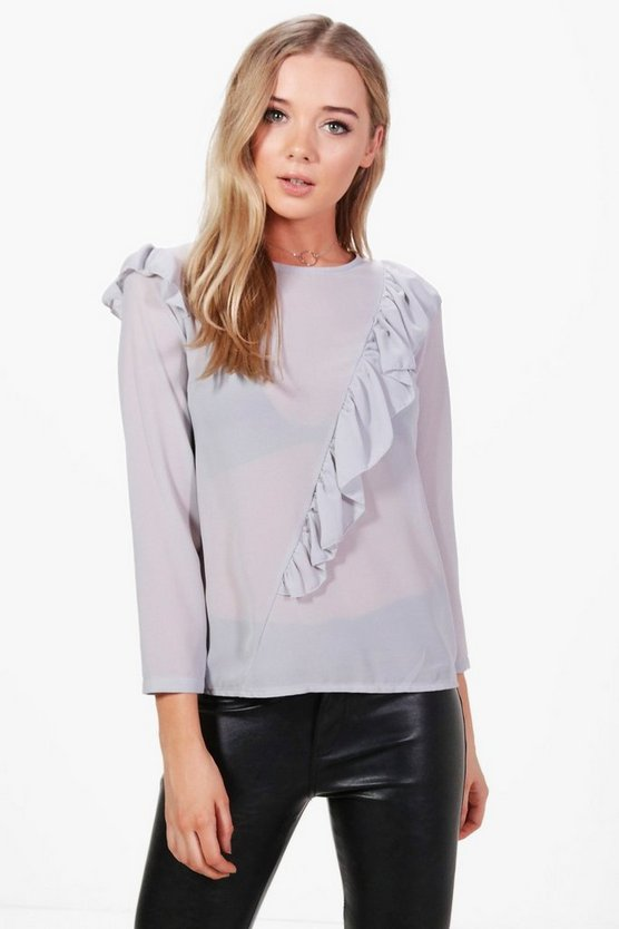 Olivia Frill Detail Blouse