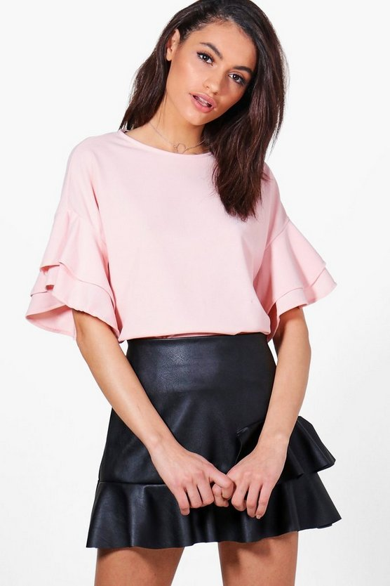 Keely Ruffle Sleeve Woven Top