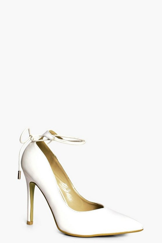 Olivia Wrap Ankle Pointed Court Heels
