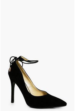 Emma Wrap Ankle Pointed Court Shoes