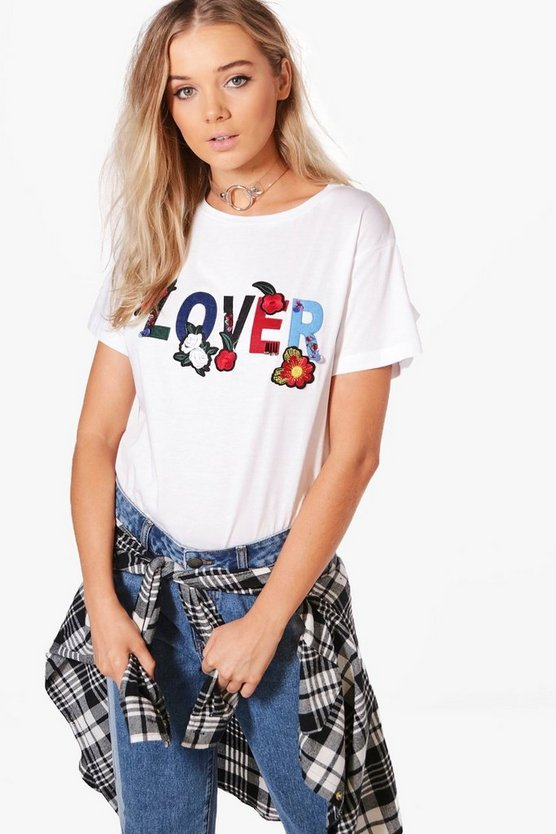 Sarah Boutique Embellished Slogan T-Shirt