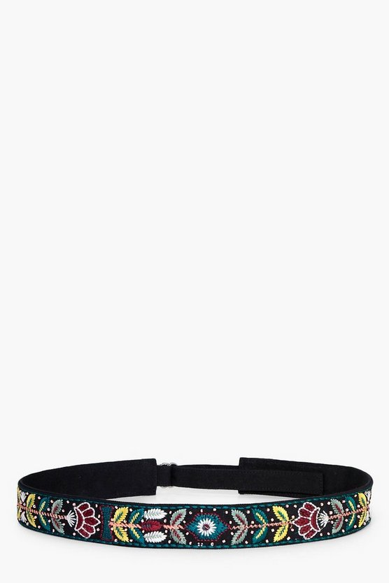 Nina Embroidered Floral Belt