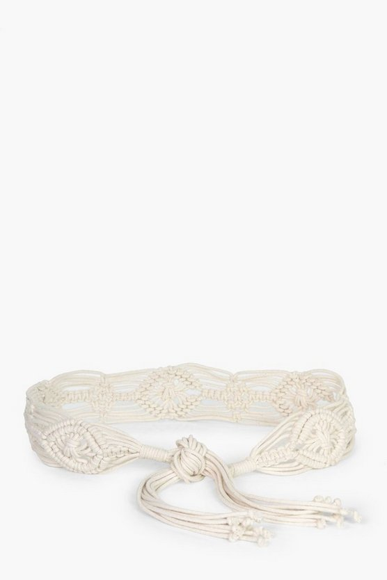 Elena Macrame Crochet Beach Belt