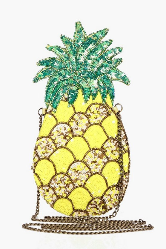 Freya Pineapple Embellished Cross Body Bag