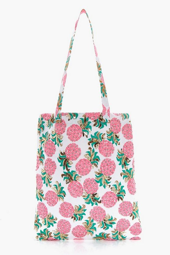 Erin Embellished Pineapple Beach Bag
