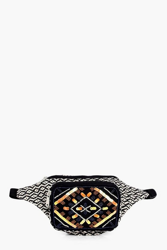 Jessica Beaded Pocket Aztec Bumbag