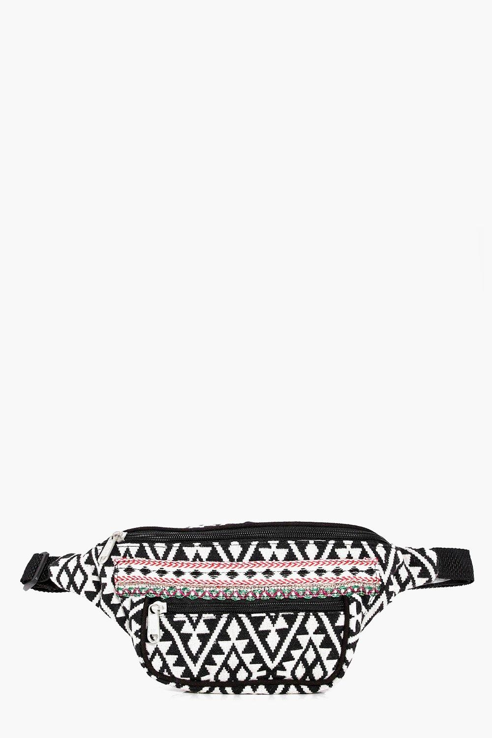 Embroidered Edge Aztec Bumbag - multi - Grace Embr