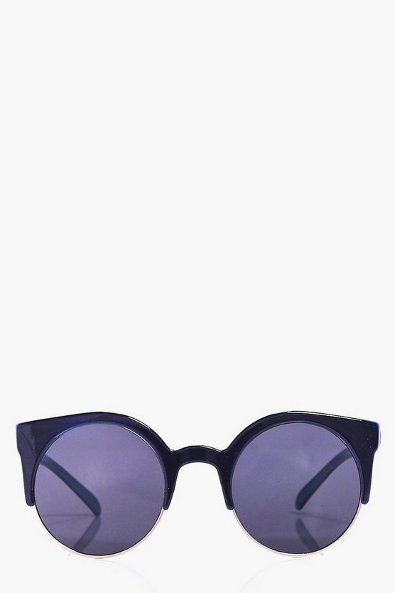 Macey Half Frame Cat Eye Sunglasses