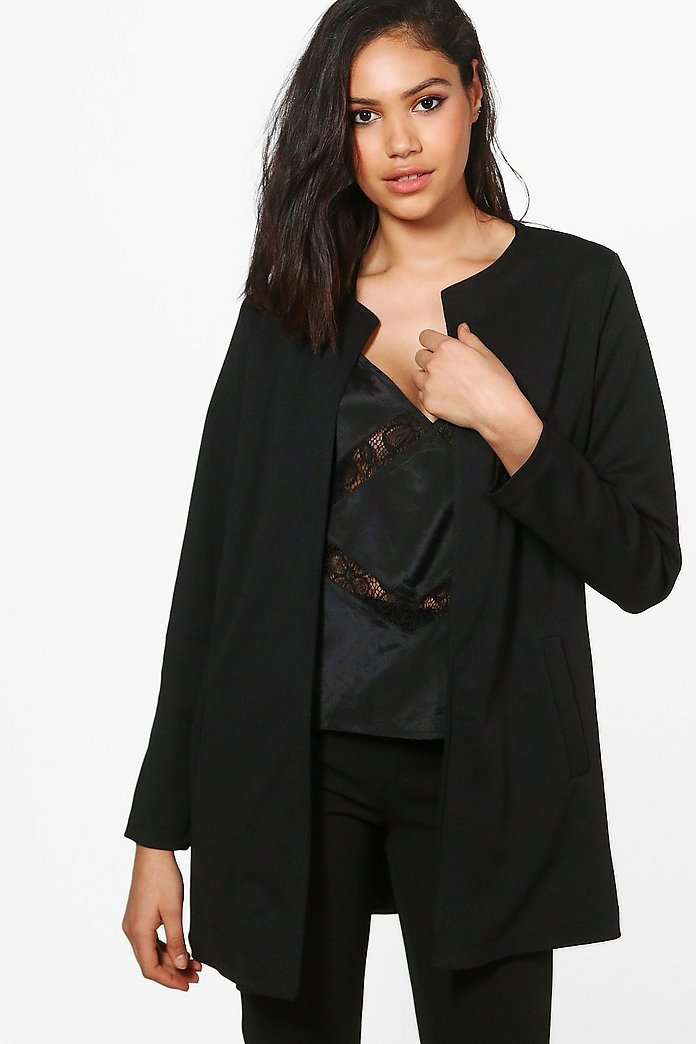 Esme Collarless Edge To Edge Blazer