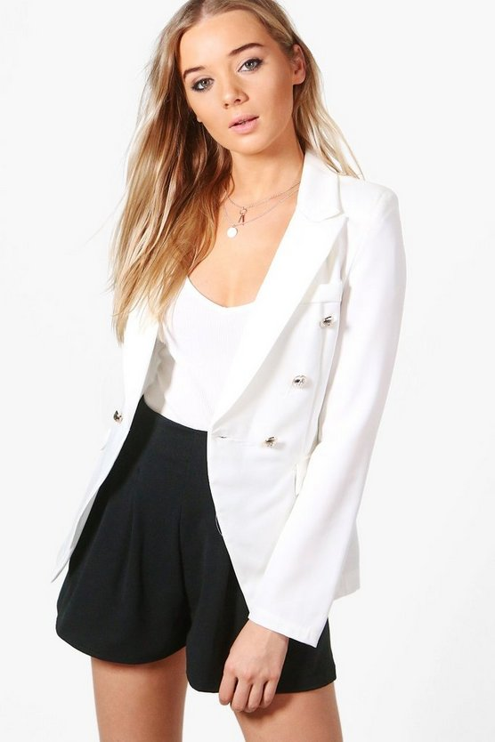 Melanie Military Button Blazer