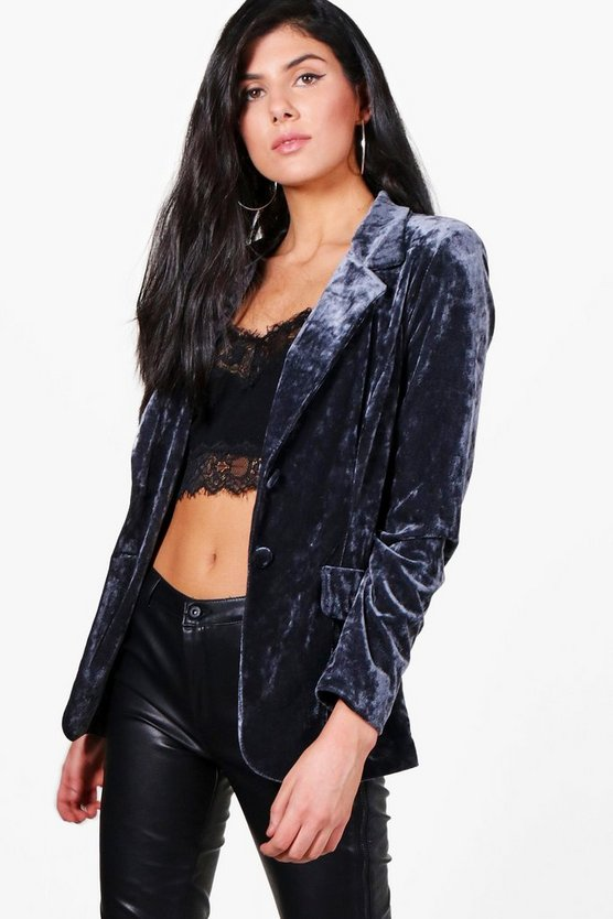 Erin Tailored Velvet Blazer