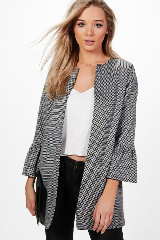 Lucie Printed Lined Duster Coat