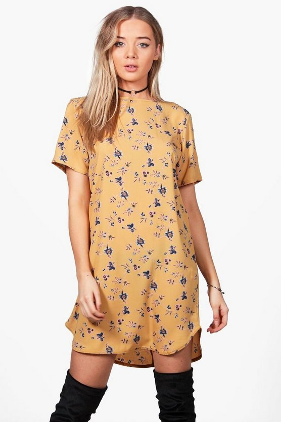 Erin Floral Woven Shift Dress