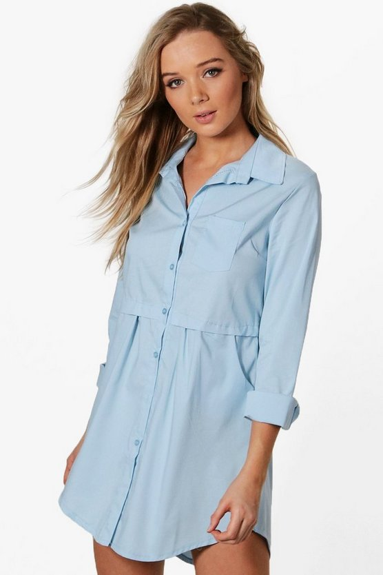 Hollie Pocket Shirt Dress