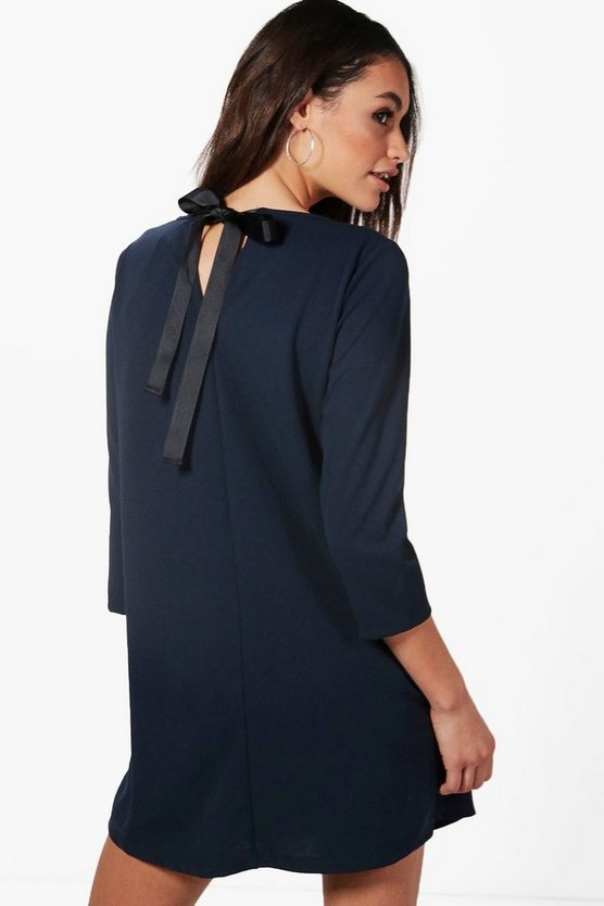 Eliza Tie Back Tailored Dress