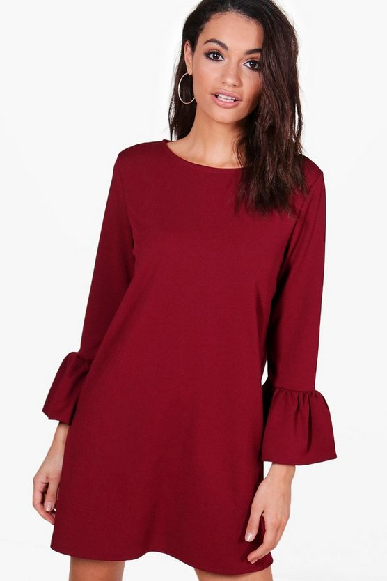 Ria Ruffle Sleeve Dress