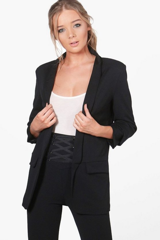 Lily Ruched Sleeve Blazer