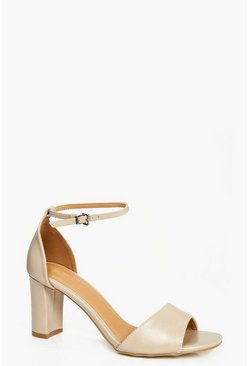 Megan 2 Part Low Heel Sandal