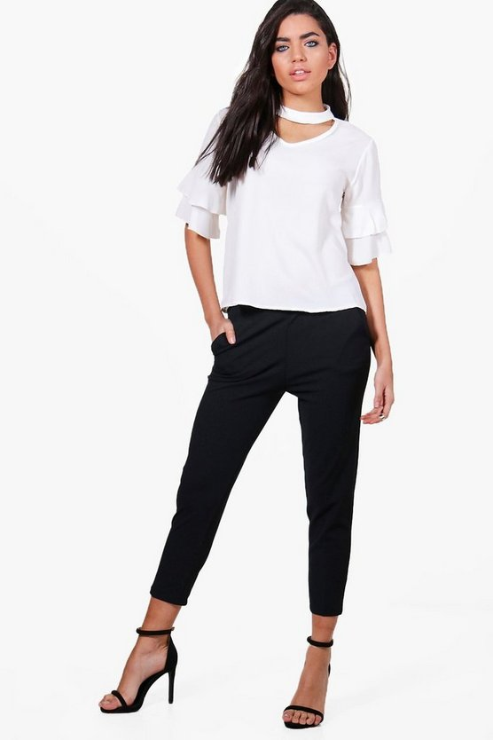 Dayna Straight Leg Crop Trousers